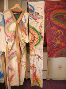 pastel scarf and kimono dragons
