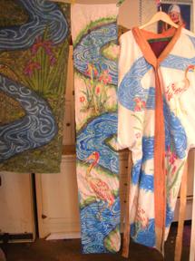 pastel scarf and kimono water