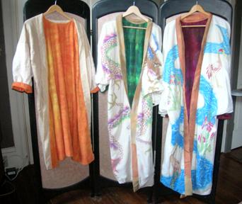 three silk kimono