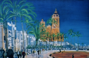 "sitges on the spanish med., oil 24x36"" width="