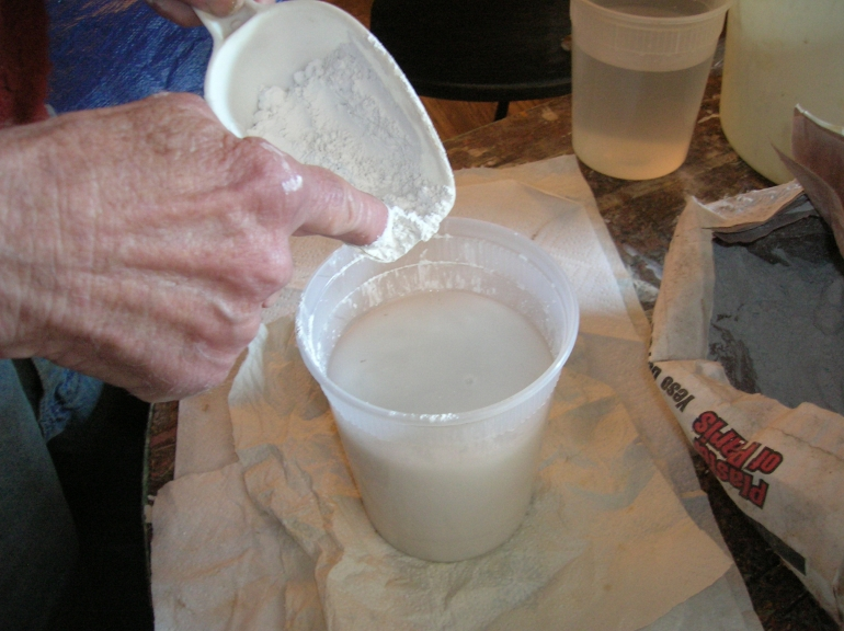 Plaster Powder To Water : Casting plaster making art with fabric